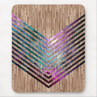 Chevron en bois de nébuleuse tapis de souris