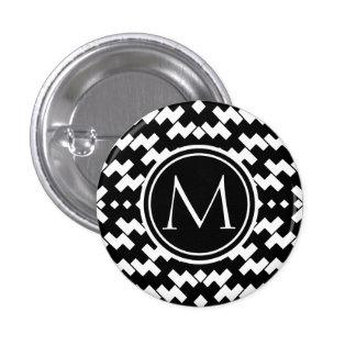 Chevron frais noir et blanc badge