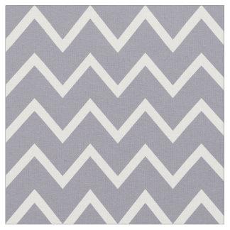 Chevron gris et blanc lilas tissu