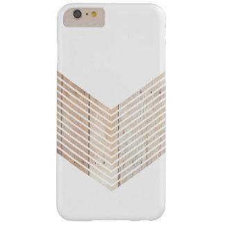 Chevron minimaliste blanc avec du bois coque barely there iPhone 6 plus