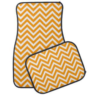 Chevron moderne orange tapis de sol