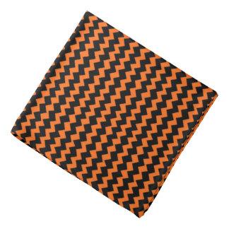 Chevron noir et orange bandana