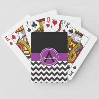 Chevron pourpre noir jeux de cartes