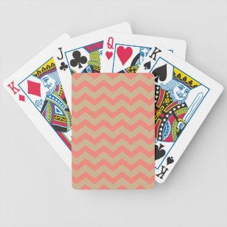 Chevron saumoné et bronzage jeu de cartes