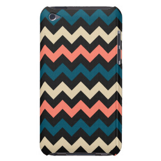 Chevron turquoise de corail coques barely there iPod