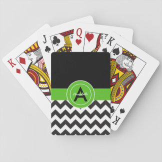 Chevron vert noir jeu de cartes