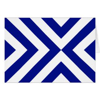 Chevrons bleus et blancs carte de vœux