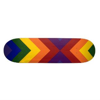 Chevrons d'arc-en-ciel skateboard 19,7 cm