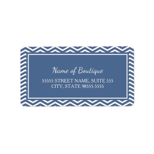 Chevrons élégants de bleu d'ardoise étiquettes d'adresse