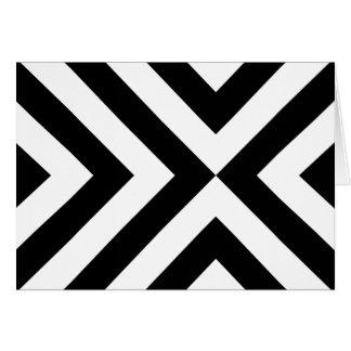 Chevrons noirs et blancs carte de vœux