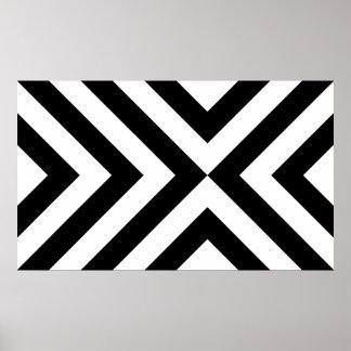Chevrons noirs et blancs posters