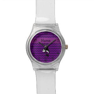 Chevrons nommés personnalisés de pourpre de montres