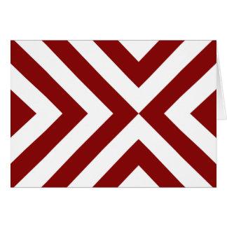 Chevrons rouges et blancs carte de vœux