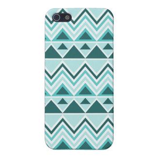 Chevrons tribaux aztèques de triangles de montagne étui iPhone 5
