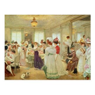 Chez le Couturier Paquin, 1906 de Cinq Heures Carte Postale