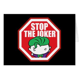 """Chibi """"arrêt signe du joker"""" carte de vœux"""