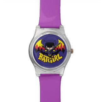 Chibi Batgirl avec l'horizon et le logo de Gotham Montres Bracelet