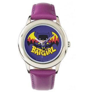 Chibi Batgirl avec l'horizon et le logo de Gotham Montres Cadran