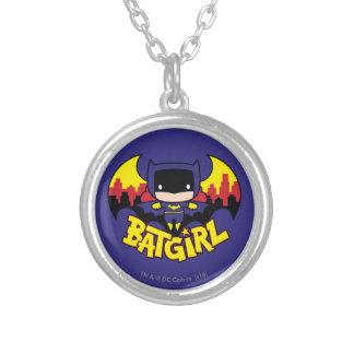 Chibi Batgirl avec l'horizon et le logo de Gotham Pendentif Rond