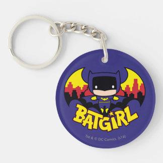 Chibi Batgirl avec l'horizon et le logo de Gotham Porte-clés