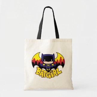Chibi Batgirl avec l'horizon et le logo de Gotham Sac De Toile