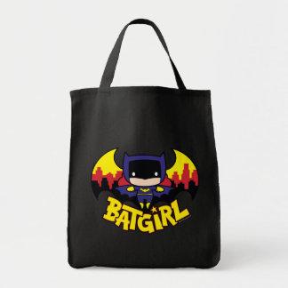 Chibi Batgirl avec l'horizon et le logo de Gotham Sacs