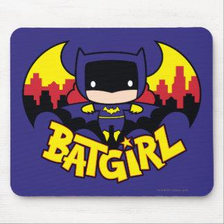 Chibi Batgirl avec l'horizon et le logo de Gotham Tapis De Souris