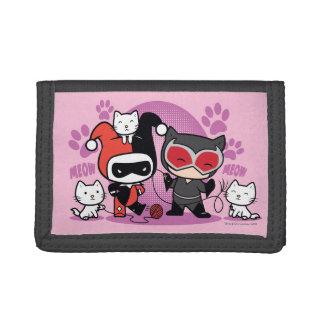 Chibi Harley Quinn et Catwoman de Chibi avec des