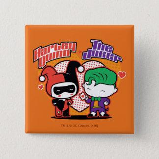 Chibi Harley Quinn et coeurs de joker de Chibi Badge