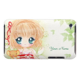 Chibi mignon avec le plushie de kawaii - cas de co coque Case-Mate iPod touch