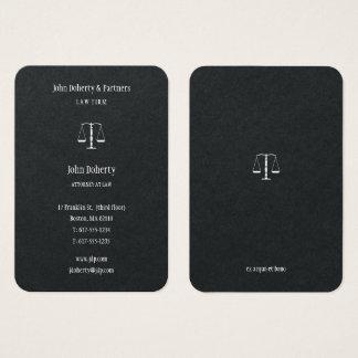 Chic élégant de l'avocat | cartes de visite