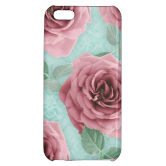 Chic minable de l'iPhone 5 de cas de rose floral d Coque Pour iPhone 5C