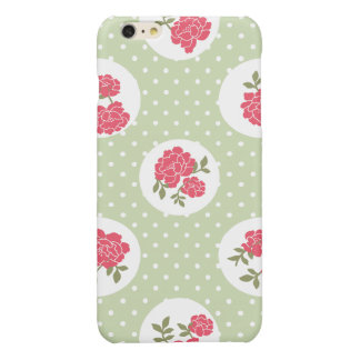 Chic minable, pois, roses - vert rouge