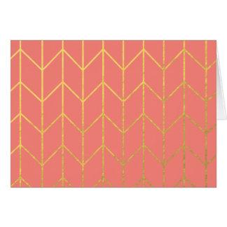 Chic moderne d'arrière - plan rose de corail de carte de vœux