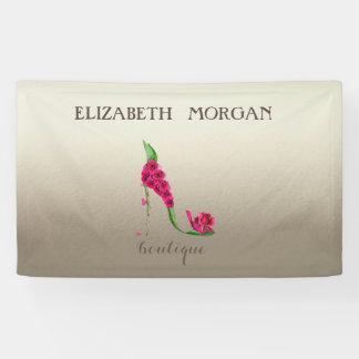 Chic moderne élégant, lumineux, fleurs, talon haut banderoles