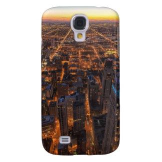 Chicago du centre au coucher du soleil coque galaxy s4