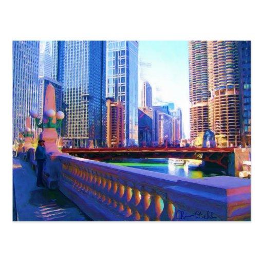 Chicago du centre cartes postales