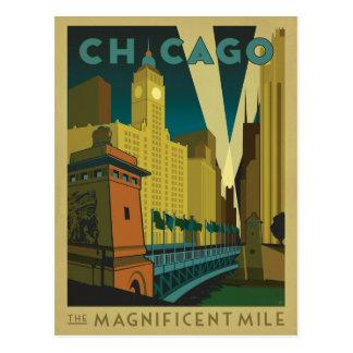 Chicago, IL - le mille magnifique Carte Postale