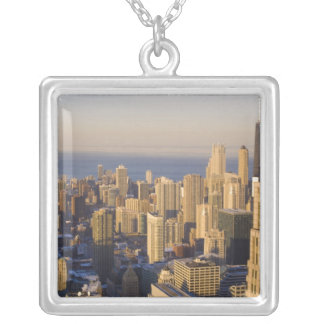 Chicago, l'Illinois, horizon du Sears Tower Pendentif Carré