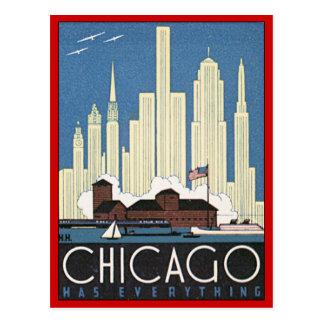 Chicago vintage l'Illinois Cartes Postales