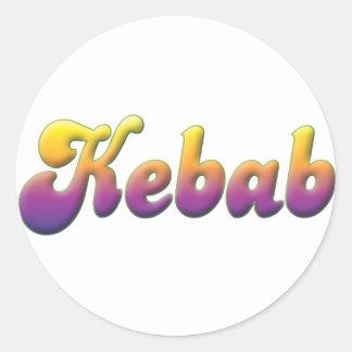 Chiche-kebab Autocollants Ronds