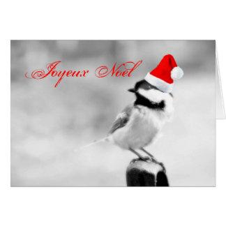 Chickadee de Joyeux Noel Père Noël Cartes