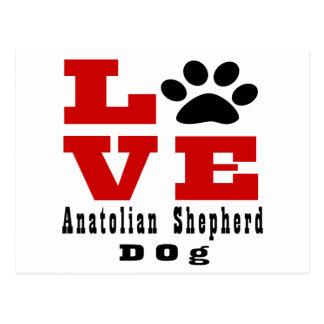 Chien anatolien Designes de chien de berger Cartes Postales