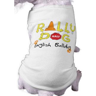 Chien anglais de rassemblement de bouledogue t-shirt pour chien