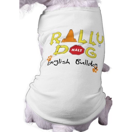 Chien anglais de rassemblement de bouledogue tee-shirts pour chien