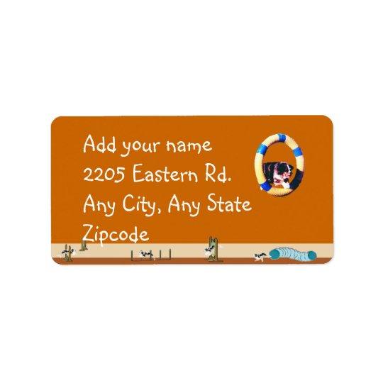 Chien australien d'agilité de berger étiquette d'adresse