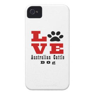 Chien australien Designes de chien de bétail Coques iPhone 4 Case-Mate