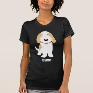 Chien bronzage et blanc de PBGV T-shirt