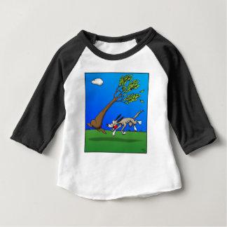 Chien comique t-shirt pour bébé