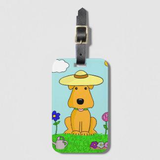Chien d'Airedale Terrier dans l'étiquette de Étiquette À Bagage
